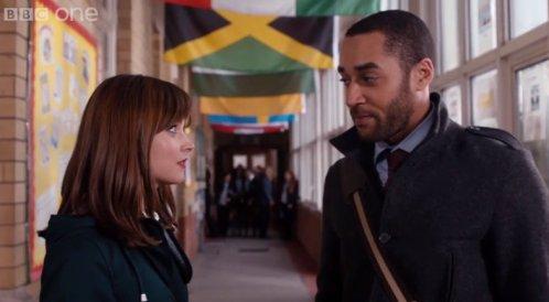 Dr Who: The Caretaker- Clara and Danny