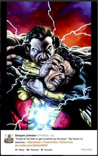 The Rock confirms Black Adam role