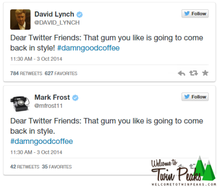 David Lynch-Mark Frost Twin Peaks Tweet