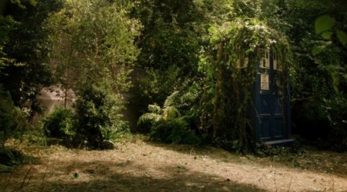 DW in the forest of the night overgrown TARDIS