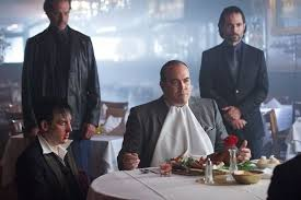 Gotham- The Penguin and Maroni restaraunt scene