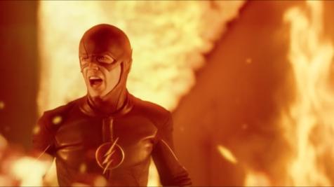 The Flash burning building scene