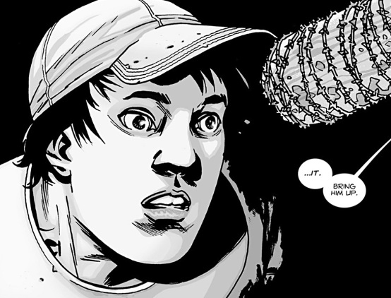 The Walking Dead comic issue 100 Glenn