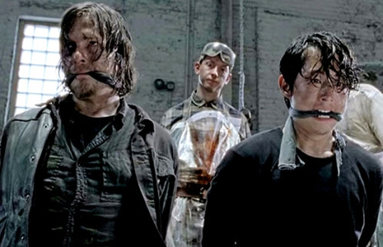 The Walking Dead Terminus baseball bat scene