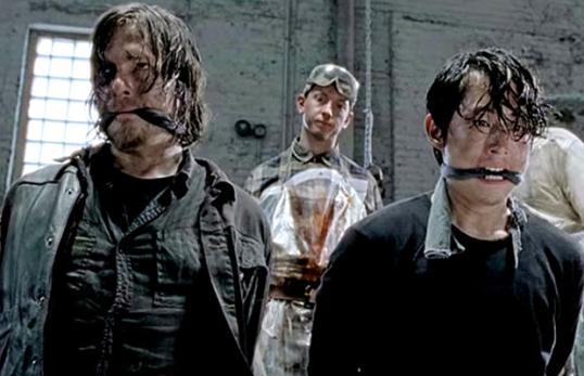 The Walking Dead Terminus baseball bat scene