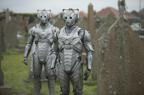 Doctor Who Death in Heaven- Cybermen in the graveyard