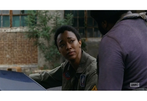 The Walking Dead 1x7 Sasha and Tyreese