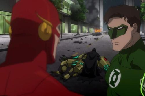 Justice League War (2014) Batman, The Flash and Green Lantern