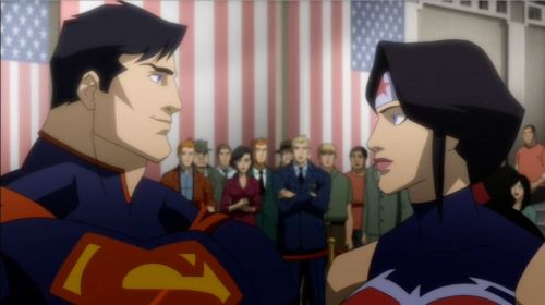 Justice League War (2014) Superman and Wonderwoman