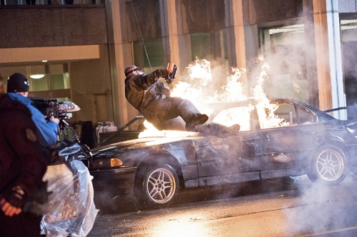 The Flash Heatwave car stunt