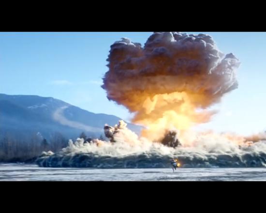 The Flash 1x13 Firestorm explosion
