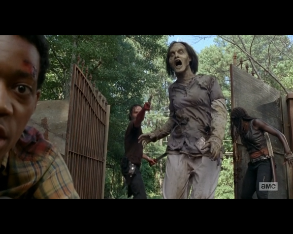 The Walking Dead the gate open