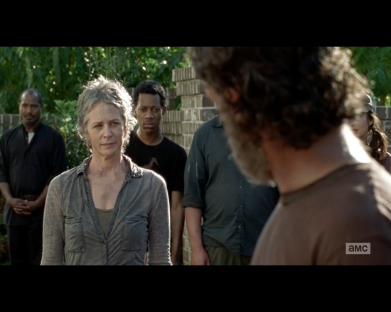 The Walking Dead season 5 episode 12 the group integrate