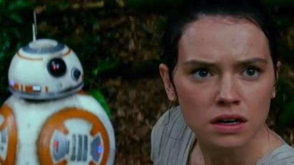 BB-8 and Daisy Ridley