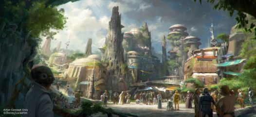 Star Wars theme park concept art 2