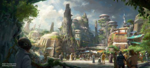 Star Wars theme park concept art 2