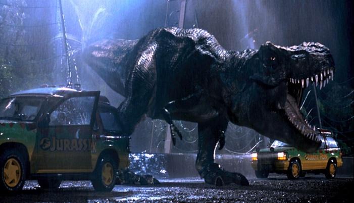 Jurassic Park T-rex attack