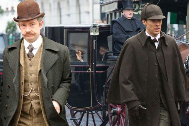 Sherlock- Holmes and Watson carriage