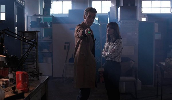 Doctor Who Caretaker and Clara