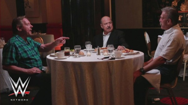 Table For 3 Roddy Piper, Gene Okerlund, Paul Orndoff