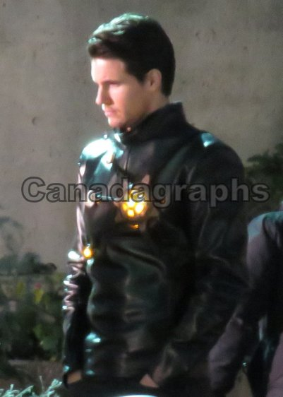 Firestorm on set of The Flash
