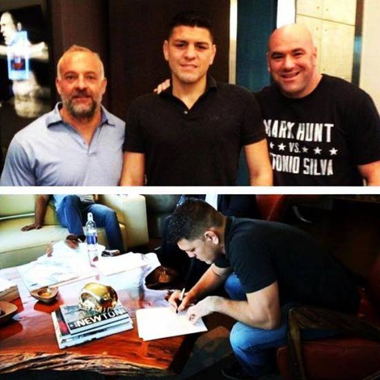 Nick Diaz contract signing