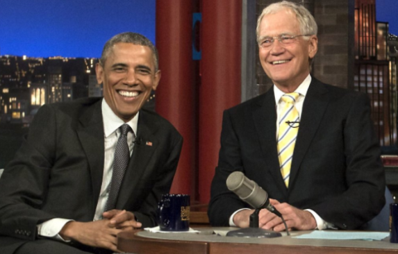 Letterman and Obama in the past