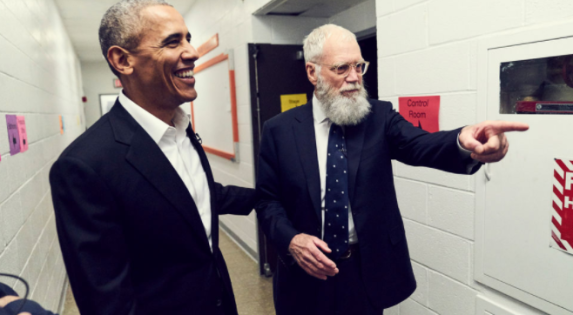 Letterman and Obama